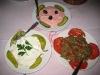 Käsesalat, Taramosalat und Auberginensalat