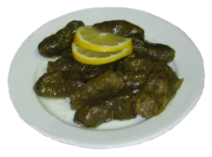 fresh Dolmades with lemon