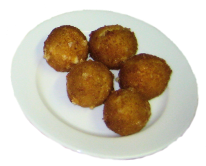 Balls made of cheese
